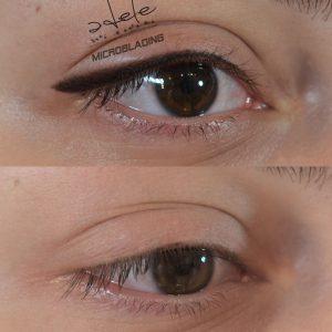 eyeliner cu efect de indesire a genelor si lifting