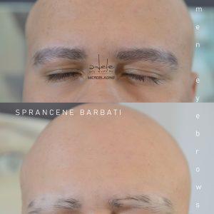 Microblading Sprancene Barbati Alopecie Totala, Micropigmentare fir cu fir